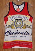 Men's Budweiser Logo Tank Top Sleeveless Beer T-shirt - Size Small