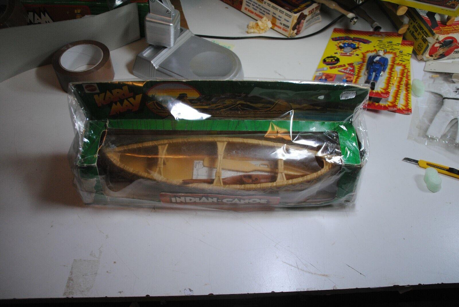 BIG JIM KARL MAY MATTEL  INDIAN CANOE   RARE SET  IN THE ORIGINAL BOX