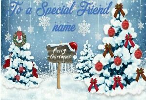 Personalised Merry Christmas to a Special Best Friend cute Christmas card