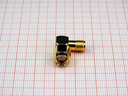 90° Winkeladapter Adapter Rev SMA Stecker auf SMA Buchse - Winkelstecker (J05E)