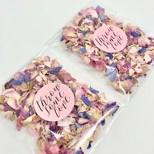 PINK-Rose-Petal-Natural-Biodegradable-Wedding-Confetti-Dried-Petal-Bags-PACKETS