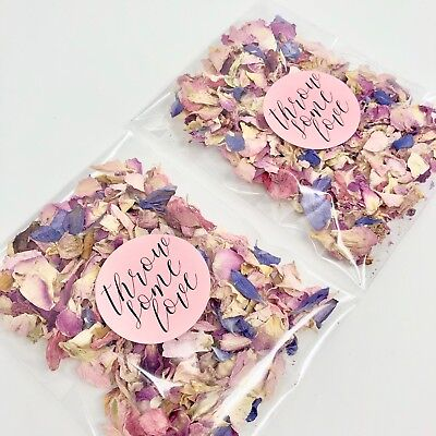 READY TO USE Wedding Confetti Pack Biodegradable Natural Petal