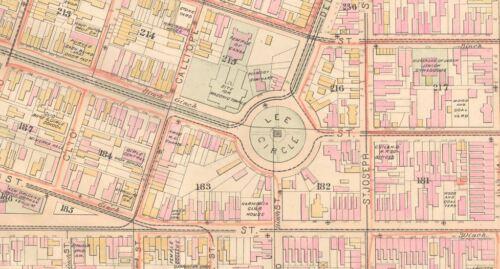 1883 NEW ORLEANS LOUISIANA LEE CIRCLE COLISEUM SQ FELICITY ST-JULIA ST ATLAS MAP