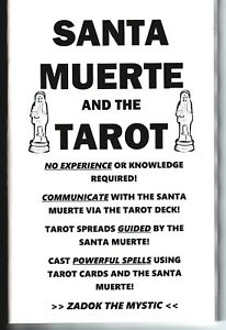 Details about SANTA MUERTE AND THE TAROT book Santisima divination cards  deck