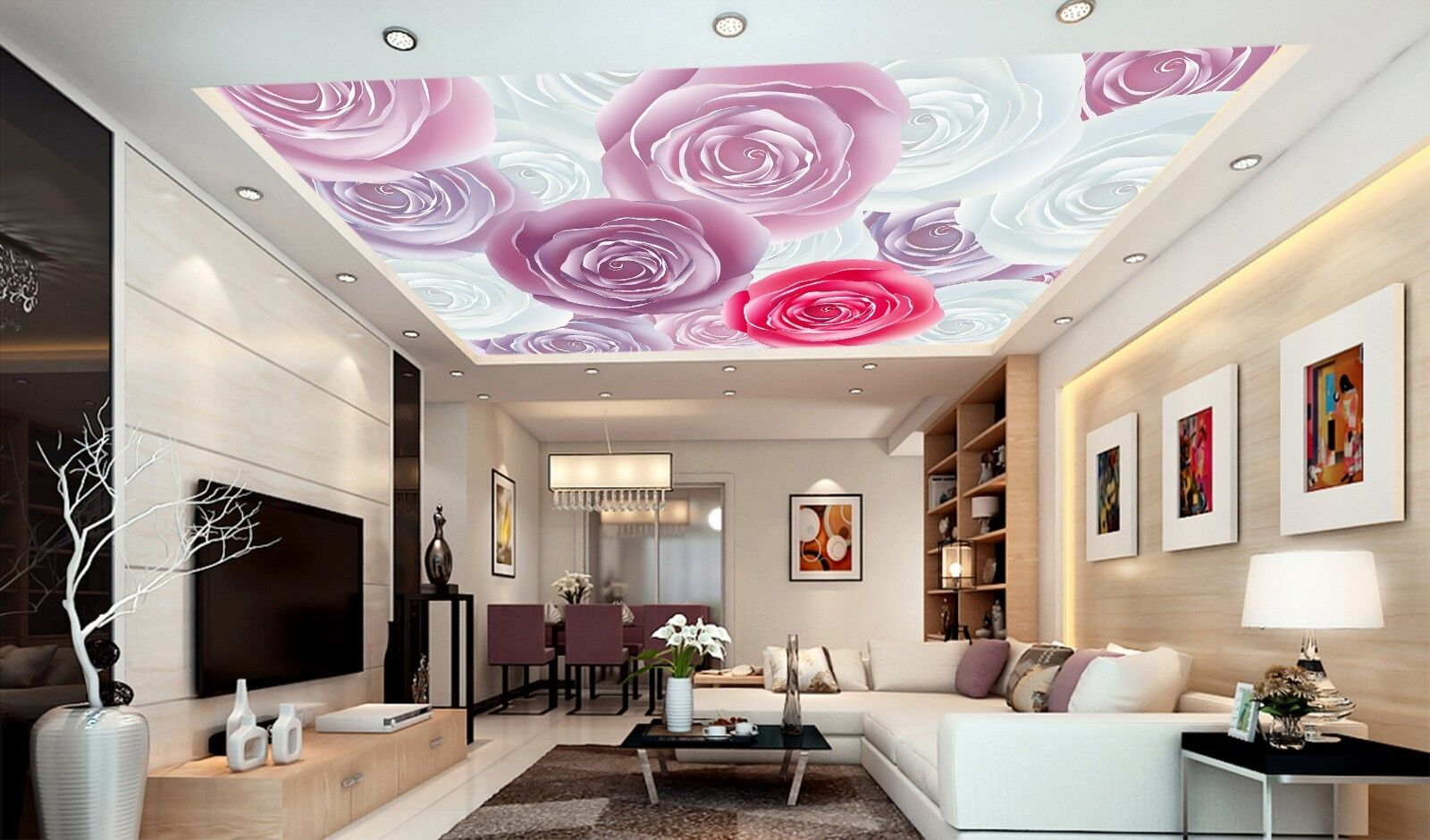 3D Painting Flower 412 Ceiling Wall Paper Print Wall Indoor Wall Murals CA Jenny