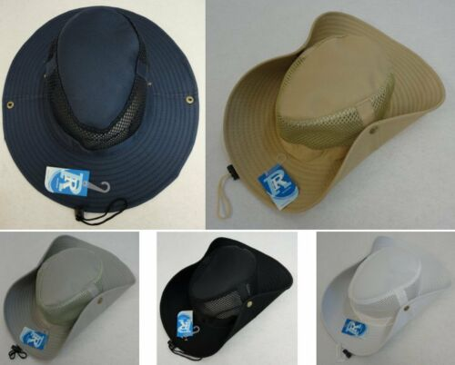 12 Plain Mesh Boonie Hats Solid Color Fishing Summer Hat BULK WHOLESALE LOT