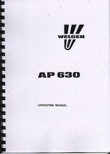 Welger AP 630 Baler Operator Instruction Manual Book