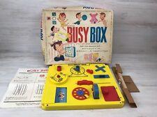 Vintage Kohner Busy Box Crib Childrens Playpen Toy 1960's w/ Original Box