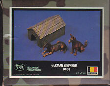 VERLINDEN 248 - GERMAN SHEPARD DOGS - 1/35 54mm RESIN KIT NUOVO