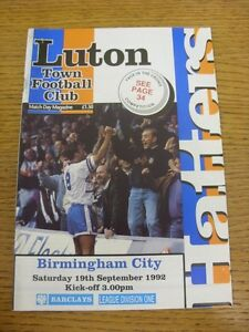 19-09-1992-Luton-Town-v-Birmingham-City-Thanks-for-viewing-this-item-buy-wit
