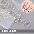 1000 Super Shiny Nail Art Flatback Crystal AB Resin Round Rhinestone Beads 4mm