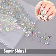 Resin 3mm Round Rhinestone Beads Crystal AB Nail Art Flatback