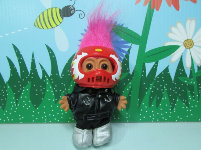 """EVEL KNIEVEL / MOTORCYCLE RIDER - 5"""" Russ Troll Doll"""