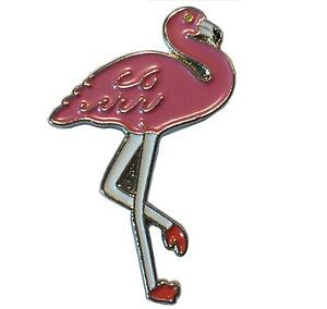 Pink-Flamingo-Wading-Bird-Metal-Enamel-Pin-Badge-30mm-Brooch-NEW