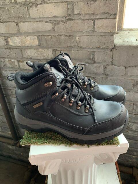 Khombu Men's Boots Summit Black Leather Hiking Outdoor Waterproof Pick Size