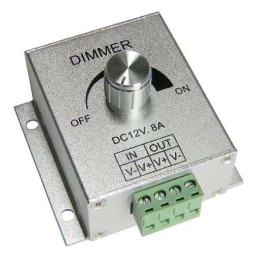 LED Dreh-Dimmer PWM 12V 8A stufenlos dimmen von 12 Volt LEDs SMD Strips Leisten