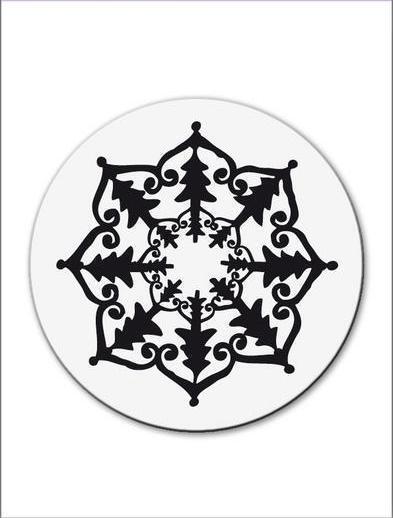 CArt-Us Clear Acrylique TIMBRE petit ornement fleur-TREE - 001883/1113 réduit