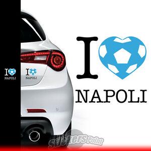 adesivo-I-LOVE-NAPOLI-sticker-PVC-auto-squadre-calcio-serie-A