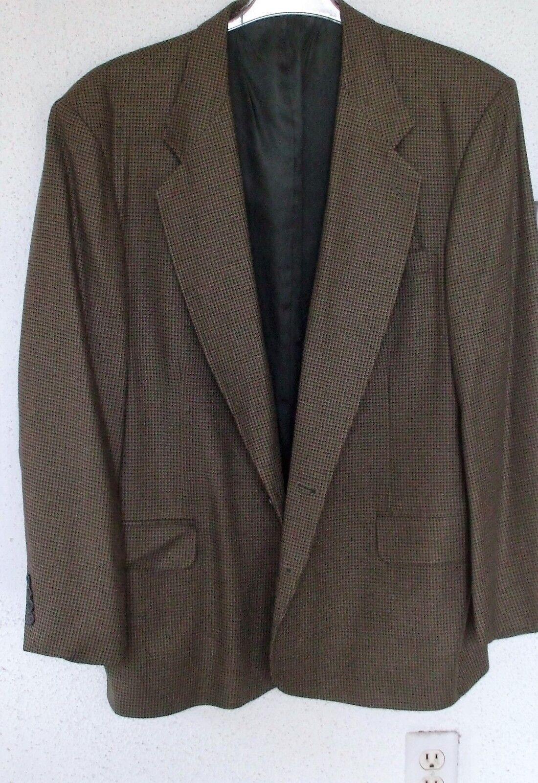 MEN'S SPORT COAT Size 46 Regular HOUNDS-TOOTH Italian Fabric Stunning
