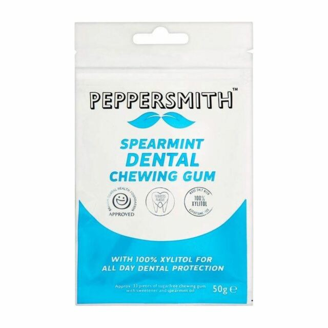 Peppersmith Xylitol Natural English Spearmint Gum 50g