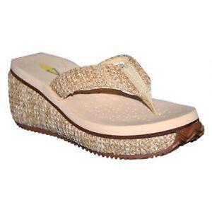 b8909d4ec8 Women Volatile ISLAND Natural Slip On Wedge Flip Flop Thong Sandal ...