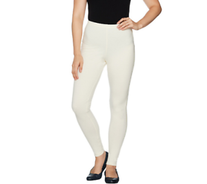 aab90c56dd04b2 Women With Control Petite Fit Pull On Knit Leggings Size XS Winter ...