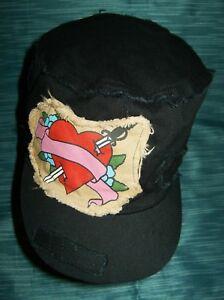 5eb61f8dce5 BLACK Military-Style HAT CAP