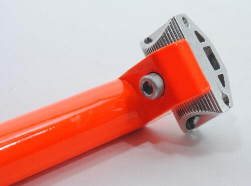 SEAT POST PROMAX LITE 27.2 mm w// CLAMP 400mm FLUORESCENT//NEON ORANGE 27.2mm