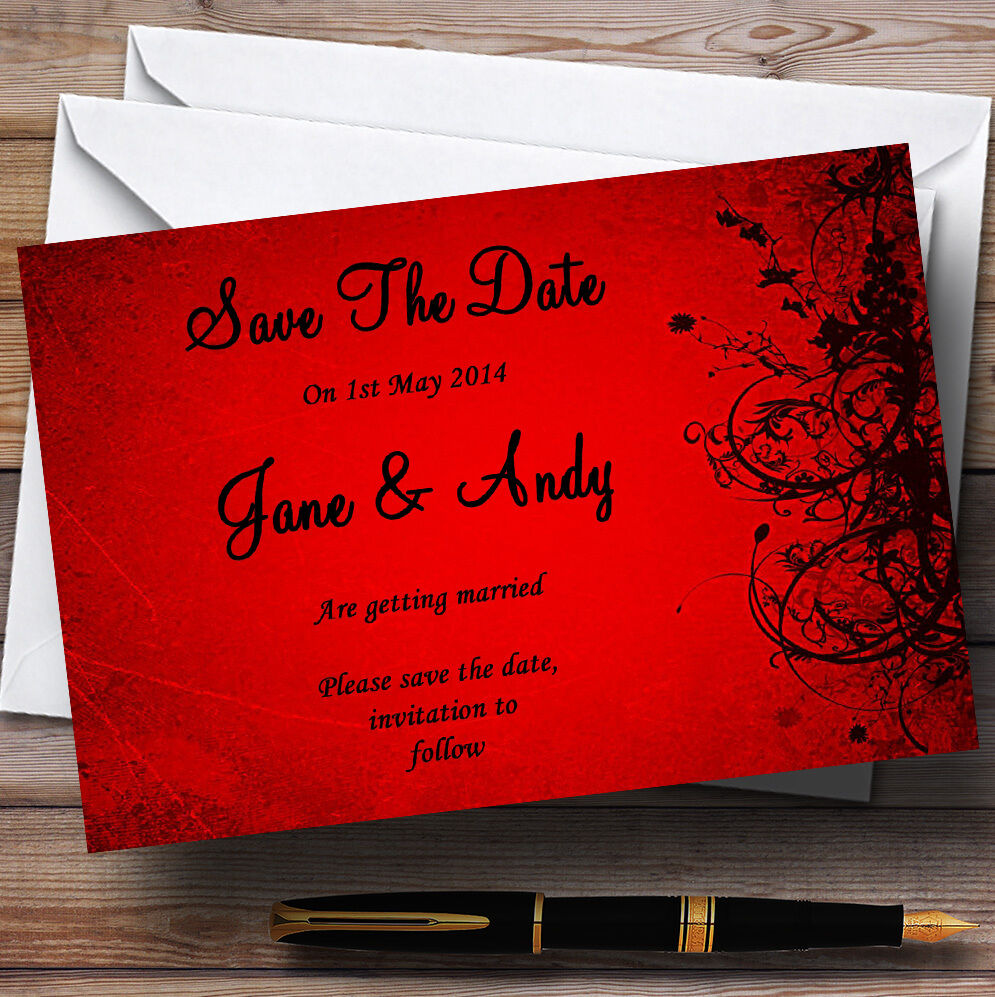 Flare rouge personnalisé mariage save save mariage the date cards a28939