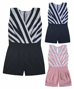 Girls-Playsuit-Kids-New-Summer-Party-Outfit-Short-Sleeve-Jumpsuit-Age-3-14-Years