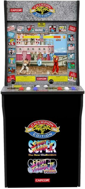 4FT Street Fighter Arcade Machine Games Arcade1UP 3 in 1 Game Arcade Cabinet