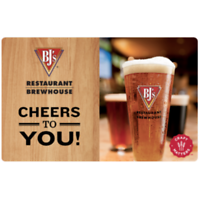 $60 BJ's Restaurant Gift Card and get additional $15