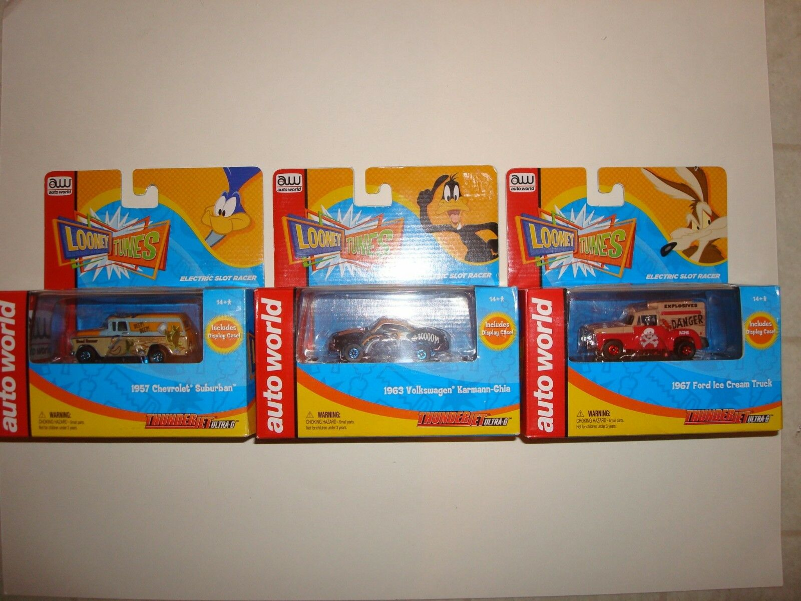 AW Auto World Looney Tunes Series Slot Cars Lot Set of (3) Different New in Box