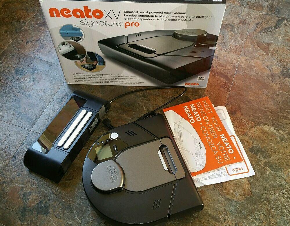 Neato Robotics XV Signature PRO Robotic Vacuum/Sweeper Set W/110-240v Dock