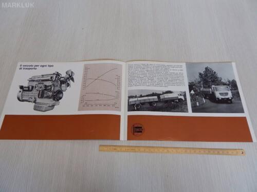 DEPLIANT ORIGINALE LANCIA ESADELTA C CAMION 1967 BROCHURE PROSPEKT