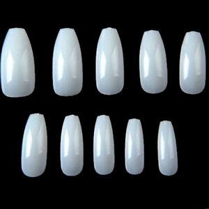 Details About 500 X Uñas Artificiales Acrílica Completa Color Natural Para Manicura Nails