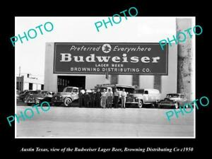 OLD-LARGE-HISTORIC-PHOTO-OF-AUSTIN-TEXAS-THE-BUDWEISER-BEER-WAREHOUSE-c1950
