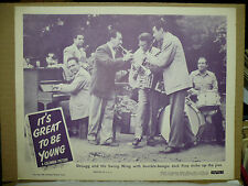 IT'S GREAT TO BE YOUNG, orig 1946 LC (Milton DeLugg & his band, Jack Fina)