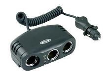 12v Car Cig Lighter Multisocket Triple 12 Volt Multi Socket Adapter Ring RMS3