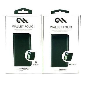Case-Mate-Wallet-Folio-Leather-Protection-Case-For-Motorola-Moto-Z2-Play-Black