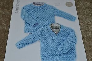 Hayfield Knitting Pattern 4408 Baby Chunky Sweaters 6 mos ...