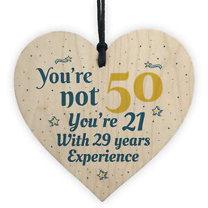 Image Is Loading 50th Birthday Gift Wooden Heart 50 For Dad