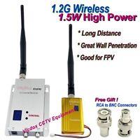 1.2g 1500mw Wireless Video Transmission Transmitter Receiver Cctv Camera Dvd Tv