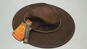 a1e0b3efe9d Image is loading Kakadu-Southern-Cross-Kangaroo-Suede-Leather-Hat-Brown-