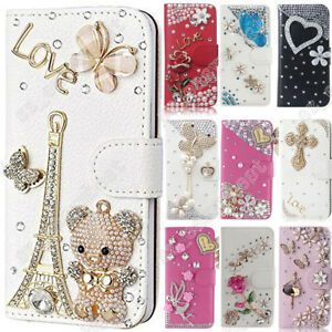 US-Flip-Bling-Wallet-Stand-Case-Crystal-Luxury-Leather-Cover-For-Samsung-Galaxy