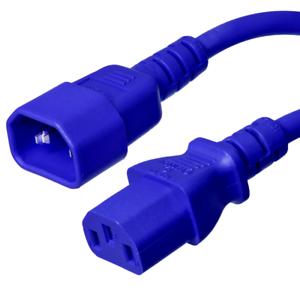 10A//250V 18 AWG IEC 320 Power Cord C14 // C13 Iron Box # IBX-2817 Blue 6 ft