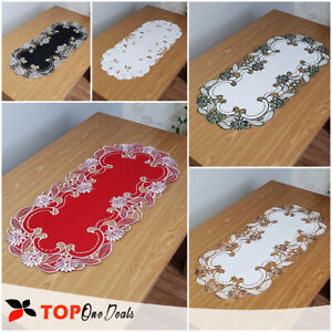 Amazing-Oval-Table-Runners-Tablecloths-Dining-Living-Room-Table-Decorations-New