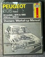 Peugeot 305 - Haynes Workshop Manual - 1978 to 1989