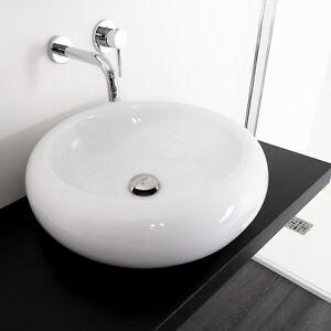 Lavabo bagno 50 cm tondo lavandino arredo moderno bacinella in ...