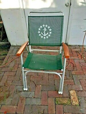 Fantastic Green Nautical Vintage Marine Anchor Aluminum Folding Deck Chair Elescope Ebay Onthecornerstone Fun Painted Chair Ideas Images Onthecornerstoneorg